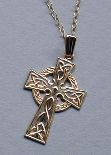 Celtic cross necklaces from irish too gold celtic cross necklace aloadofball Gallery